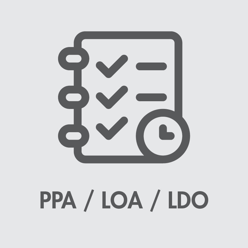 """""""PPA/LOA/LDO"""""""